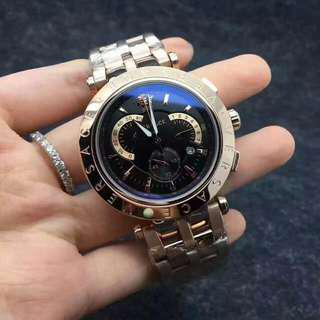 範思哲versace小醜系列男女同款 男錶女錶 六針計時碼表男士手錶 手錶 鋼帶凡賽斯 凡賽斯