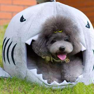 Funky Shark Shaped pet bed for your dog or cat