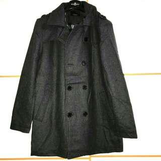 ZARA MAN wool pea coat