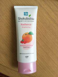 Shokubutsu radiance brightening Facial cleanser