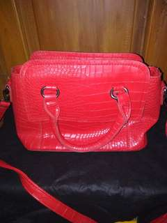 mini croco hand bag with stral