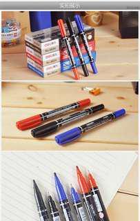 $10 四支 油性雙頭筆 粗頭幼頭 Marker Pen