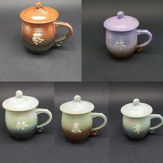 高溫陶瓷姓氏水杯