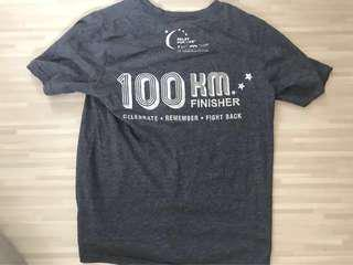 🚚 100km relay for life finisher shirt - new