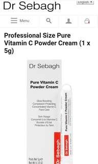 Dr sebagh pure vitamin c powder cream維他命C美白去印粉