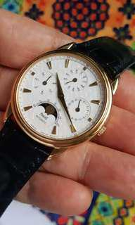 Paget 18k solid gold perpetual cal.moonphase.ref.15958.