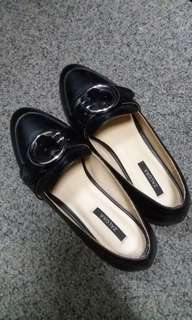Size 37 Black Slip-Ons Loafers Shoes