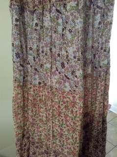 Costa Blanca Maxi dress. Flower pattern. Size XS