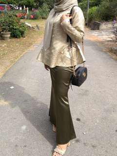 Brocade Peplum + Satin Skirt #FASHION100