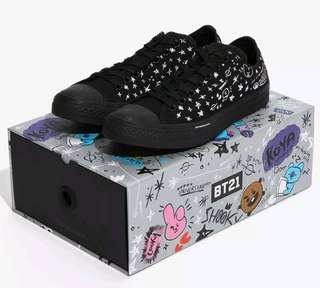 7411d4d906df (PO) BTS Converse X BT21 Chuck Taylors all star black shoes
