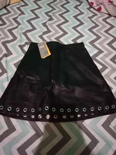 Rok leather(kulit) H&M
