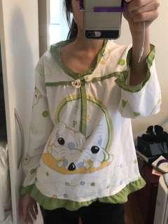 PJ pyjama frill top