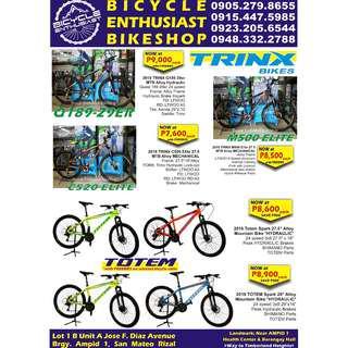 Trinx Bicycle Totem Bicycle Built Bike Alloy Mechanical/ Hydraulic Ltwoo Shimano Bike Parts Bike Accessories Bike Bags Bike Gears Bikeshop Shop