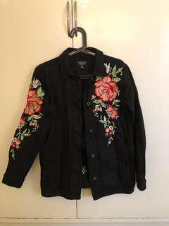Topshop Denim Jacket with embroidery