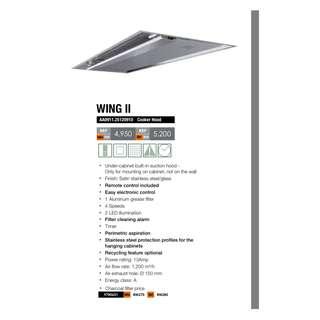 Foster designer-range cooker hood Wing II