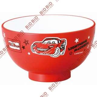 Cars 反斗車王 McQueen 閃電王麥坤 飯碗 膠碗 湯碗 餐具 日本製 合 微波爐 DISNEY 汽車總動員