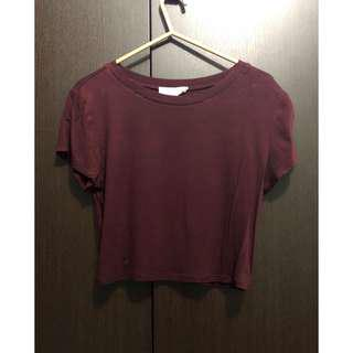 Forever 21 Maroon Cropped Top