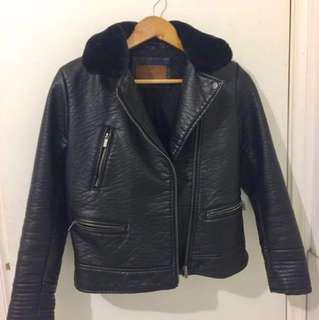 Zara PVC Leather Jacket