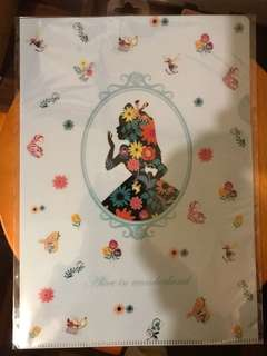 [正版]全新 迪士尼 愛麗絲 文件夾 Disney Alice File