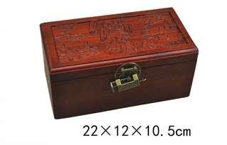 越南紅木 首飾盒復古中式盒 八仙過海