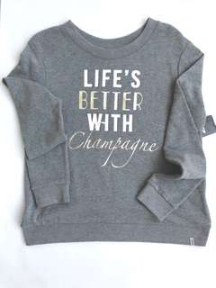 Marc NY Performance Life's Better With Champagne sweatshirt