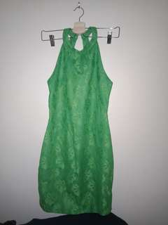 Vintage Green Lace Dress