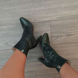 Zara Genuine Leather Boot