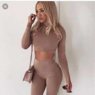Oh Polly double layered two piece lounge wear set