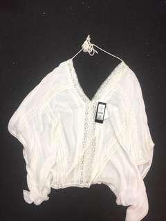 BNWT White Lace Kaftan