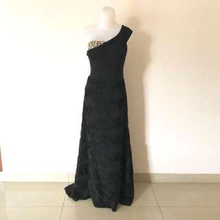 Dorian Ho Peony Black Night Dress / Gown