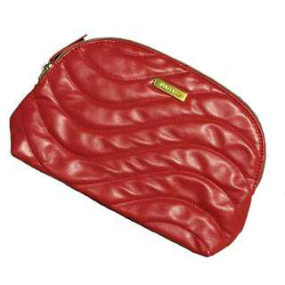 Shiseido Red and Gold Make-up bag/pouch
