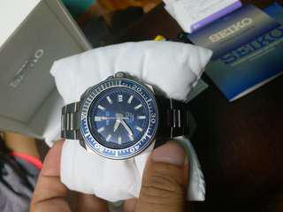seiko 精工 鈦武士 手錶 細mm 鈦版 停產 藍色 sbda003 全套 有單有保卡有盒 90%新,玻璃冇花,圈少花,齊格,停產