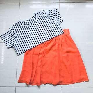 Summer Skirt Forever21, Baju garis garis
