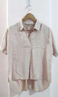 Linen High Low Shirt
