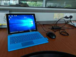 Surface pro3 128gb 4gb ram with type cover