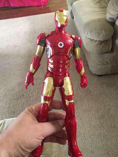 Iron Man. Voice activated when you press his chest.
