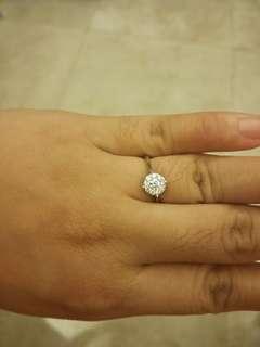 14k whitegold 1 carat illusion ring