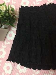 ruffled tube/black