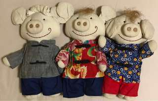 Soft Toys -Three Little Pigs