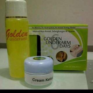 Golden Underarm..pemutih Ketiak & Selangkangan Yg Hitam....best seller...!