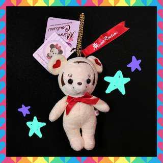 🛸🤺日本🇯🇵 正版 T-ARTS 迪士尼🏰 米妮熊🐻❤ 絕版 吊飾 玩偶 白色