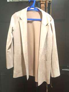 zara dusty pink blazer
