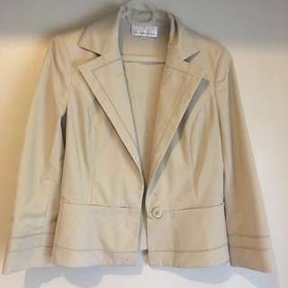 REPRICED! Cream office blazer or coat