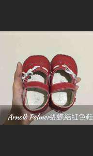 🚚 Arnold Palmer 雨傘牌 蝴蝶結紅色鞋