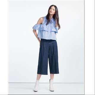 Zara Denim Culottes