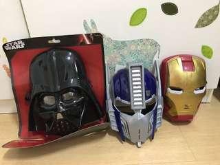 Pretend Play Masks: Darth Vader, Ironman, Optimus Prime