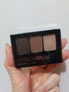 Maybelline三色專業造型眉粉#Dark Brown 包郵