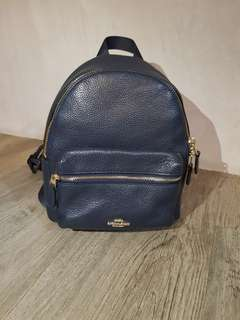 Authentic coach mini backpack in Navy colour