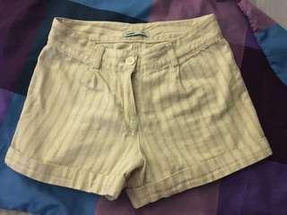 White stripe shorts