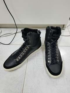 French Connection 黑色高筒波鞋 size 43